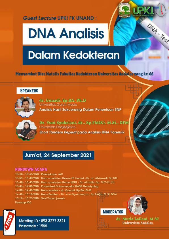 Guest Lecturer UPKI FK Unand