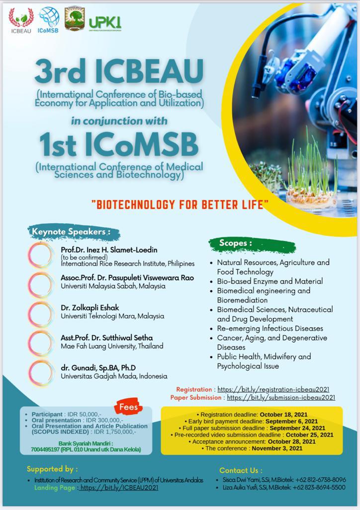 3rd ICBEAU - 1st ICoMSB